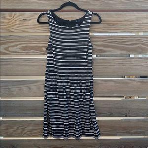 GAP Striped Black White Sundress Size Small